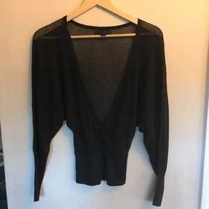 Express Wrap Sweater Shimmer Black